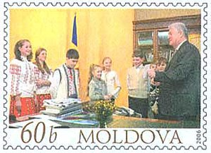 Vladimir Voronin - 2006 stamp