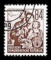Stamps GDR, Fuenfjahrplan, 84 Pfennig, Offsetdruck 1953, 1957.jpg