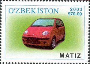 Uz-DaewooAuto - Daewoo Matiz stamp