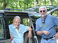 Stan Trauth with David Attenborough on the set of Life in Cold Blood in the Ouachita Mountains of Arkansas.jpg
