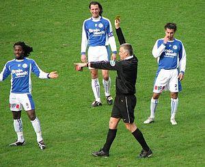 Stanley Aborah (footballer, born 1987) - Stanley Aborah (left) in 2008