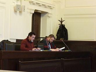 Randy Blythe manslaughter case - State Attorney Vladimír Mužík (right)