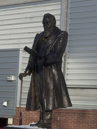 William McGregor (football) - Image: Statue of William Mc Gregor outside Villa Park 2