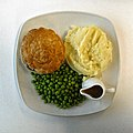 Steak and ale pie at Sainsbury's Low Hall, Chingford, London 1 top view.jpg