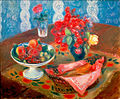 Still Life with Roses and Fruit by William James Glackens, c. 1924, High Museum of Art.jpg