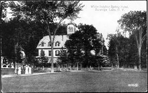 White Sulphur Spring - White Sulphur Spring Hotel, Saratoga Lake, NY