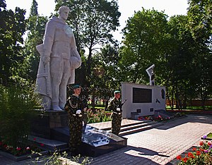Stolin - The war memorial of Stolin by the town's park