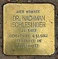 Stolperstein Bartningallee 3 (Hansa) Nachman Schlesinger.jpg