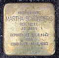 Stolperstein Flemingstr 14 (Moabi) Martha Schönberg.jpg