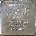 Stolperstein Hektorstr 20 (Halsee) Hertha Kuhn.jpg