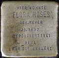 Stumbling stone for Flora Moses (Neumarkt 25)