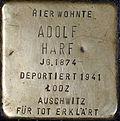 Stolperstein Köln, Adolf Harf (Breite Straße 38).jpg