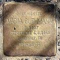 Stolperstein Lemkestr 156 (Mahld) Maria Guthmann.jpg
