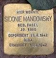 Stolperstein Marienbader Str 12 (Schma) Sidonie Mandowsky.jpg
