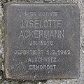 Stolperstein Markgrafendamm 16 (Friedr) Liselotte Ackermann.jpg