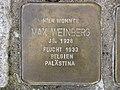 Stolperstein Max Weinberg, 1, Schäfergasse 8, Wesertor, Kassel.jpg