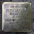 Stolperstein Sanderstr 14 (Neukö) Ruth Lazarus.jpg