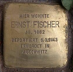 Photo of Ernst Fischer brass plaque