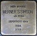 Stolpersteine Höxter, Werner S. Simson (Westerbachstraße 12).jpg