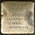 Stumbling block for Kurt Klee (Weyerstraße 122)