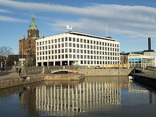 Stora Enso headquarters Office building in Helsinki, Finland, designed by Alvar Aalto