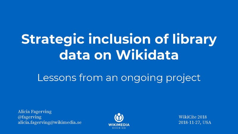 File:Strategic inclusion of library data on Wikidata, WikiCite 2018.pdf