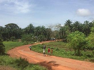 Kamakwie - Street of Kamakwie - Sierra Leone, Westafrica