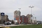 中央の建物がメトロポリタン ホテル ソフィア