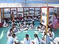 "Students participating in essay competition ""mere sapno ka bharat"", during the sabka sath sabka vikas Public Information Campaign, organised by the Press Information Bureau, Indore, at khandwa, Madhya Pradesh.jpg"