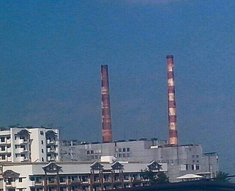 Electricity sector in the Philippines - Sucat Thermal Power Plant in Muntinlupa.