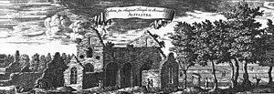 Alvastra Abbey - Alvastra as it looked in Suecia antiqua et hodierna, around 1700