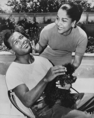Sugar Ray Robinson - Sugar Ray Robinson with Edna Mae Holly in 1956