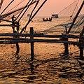 Sunset Fishery, Cochin, Kerala, India.jpg