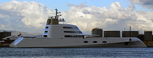 "Superyacht MY ""A"" berthed at the North Mole, Port of Gibraltar.jpg"