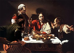 Supper at Emmaus-Caravaggio (1601).jpg