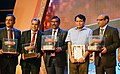 Suresh Prabhakar Prabhu presented the Shellac and Forest Product Export Promotion Council (SHEFEXIL) Awards for Export Excellence, at a function, in Kolkata on 07 July 2018.JPG