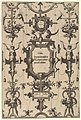 Surface Decoration, Grotesque with Strapwork, Including Three Cartouches from series of Surface Decorations, Grotesques with Strapwork with Maxims by Six Wise Men of Greece MET DP823090.jpg
