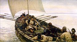 The Cossack Stenka Razin in the Caspian Sea (Vasily Surikov)