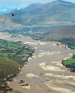Swat Valley Bridge ruined by flood water.jpg
