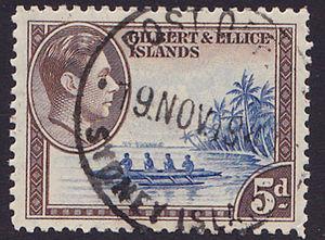 Manra Island - Sydney Island postmark ca 1945