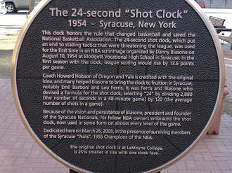 Shot clock - Close-up of Syracuse's Shot Clock Monument.