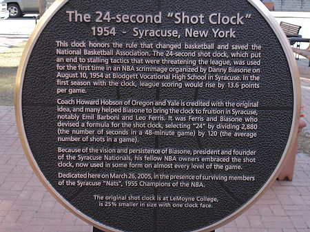 Close-up of Syracuse's Shot Clock Monument. Syracuse Shot Clock Monument Close-Up.jpg