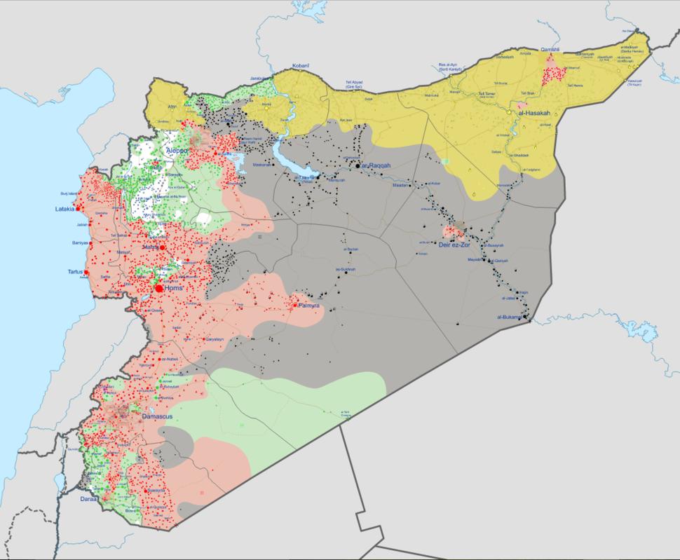 Syrian civil war 01 10 2016