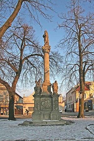 Týnec nad Labem - Image: Týnec nad Labem Mariánské sousoší