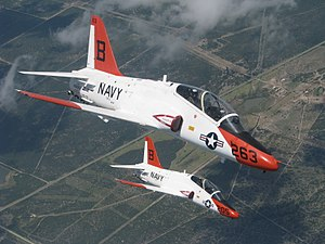 McDonnell Douglas T-45 Goshawk - A pair of T-45A Goshawks during a training flight over Texas