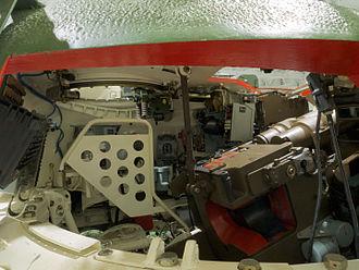 D-10 tank gun - D-10 tank gun in a T-55 tank
