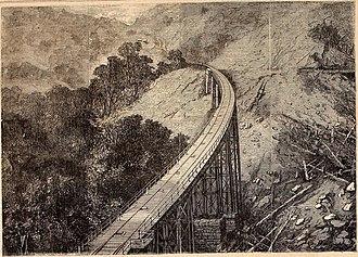 São Paulo Railway Company - The Serra Viaduct, São Paulo's Railway, Brazil (Harper's Weekly, Vol. 12, nº 623, 1868).
