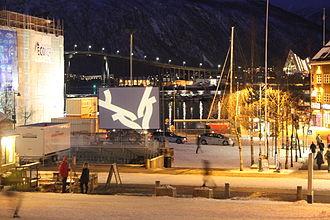 Tromsø International Film Festival - Outdoor cinema in Tromsø city center during the 2015 festival