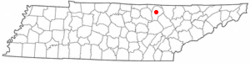 Location of Jamestown, Tennessee