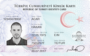 National emblem of Turkey - The emblem as used on national ID cards
